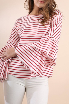 Umgee USA Stripe Crew Top - Product List Image