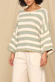 Blank Paige Stripe Crop Sweater - Product Mini Image