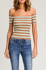 Wasabi + Mint Stripe Crop Top - Product Mini Image