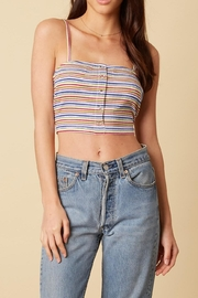 Cotton Candy Stripe Crop Top - Product Mini Image