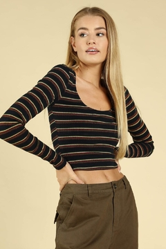 Shoptiques Product: Stripe Crop Top