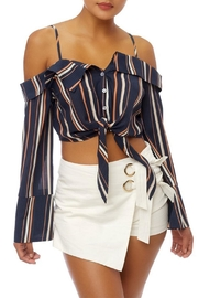 luxxel Stripe Crop Top - Front cropped