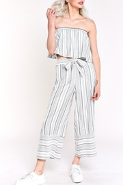 blue blush Stripe Cropped Pant - Product Mini Image
