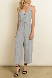 Bio Stripe Culotte Jumpsuit - Product Mini Image