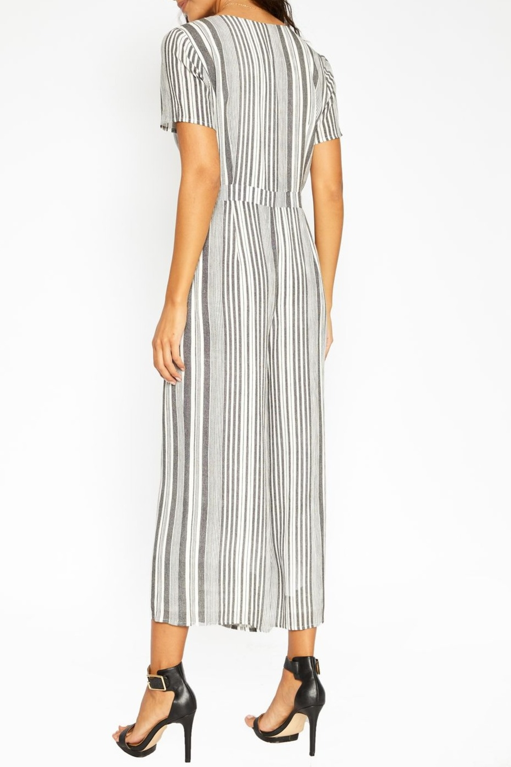 Sadie and Sage Stripe Cut Out Jumpsuit - Side Cropped Image