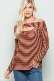 ee:some Stripe Cutout Top - Product Mini Image