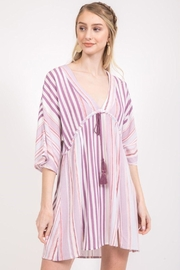Very J Stripe Drawstring Tunic - Product Mini Image