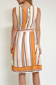 Lara Fashion Stripe Dress Whitbelt - Alternate List Image