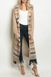 Cozy Casual Stripe Duster - Product Mini Image