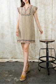 Thml Stripe embroidered shift dress - Product Mini Image