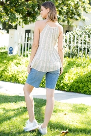 THML Clothing STRIPE EMBROIDERED TOP - Front full body