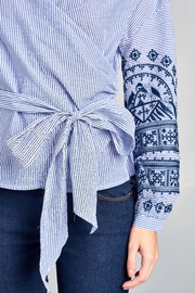 Racine Stripe Embroidered Top - Other