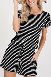 Lyn -Maree's Stripe Everyday Romper - Product Mini Image