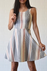 Dress Code Stripe Flare Dress - Product Mini Image