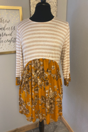 Kindred Mercantile  Stripe & Floral babydoll top - Product Mini Image