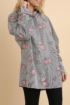 Umgee USA Stripe-Floral Button-Up Blouse - Product List Image
