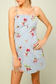Lumiere Stripe Floral Dress - Product Mini Image