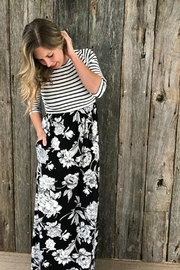Emerald Stripe Floral Maxi - Product Mini Image