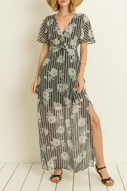 Gilli Stripe Floral Maxi-Dress - Front cropped