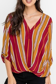 Lush Stripe Flowy Blouse - Product Mini Image