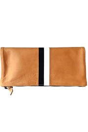 Clare V. Stripe Foldover Clutch - Front cropped