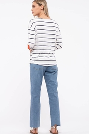 E & M Stripe Front Button Top - Other