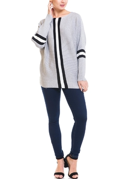 Shoptiques Product: Stripe Front Sweater