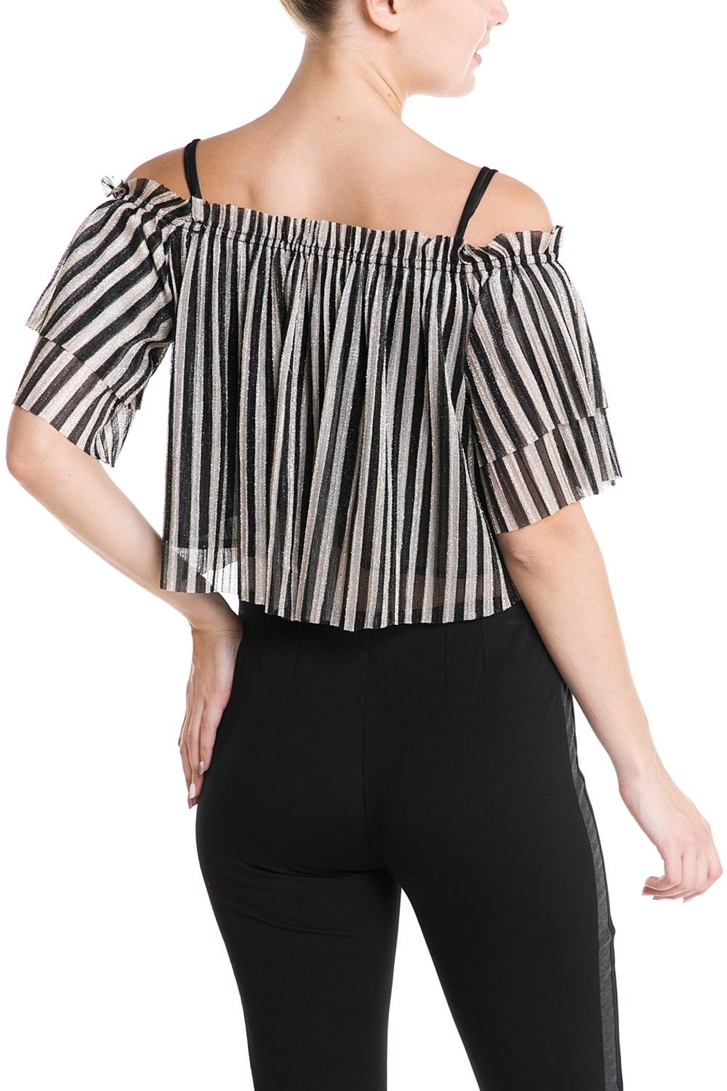 Mad For Love Stripe Glitter Top - Side Cropped Image