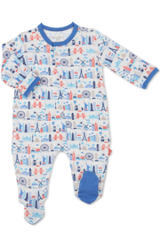 Magnetic Me Stripe Globetrotter Modal Magnetic Coverall - Product Mini Image