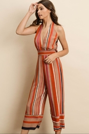 dress forum Stripe Halter Jumpsuit - Product Mini Image
