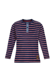 Minymo Stripe Henley Shirt - Front cropped