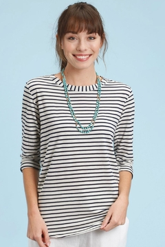 Shoptiques Product: Stripe High-Low Tee