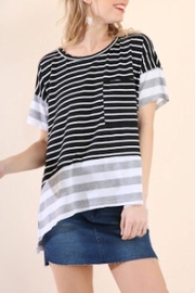 Umgee USA Stripe High-Low Top - Product Mini Image