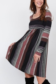 Lyn -Maree's Stripe High Waist Midi Dress - Product Mini Image