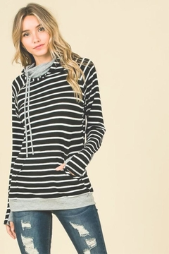 Shoptiques Product: Stripe Hooded Pullover