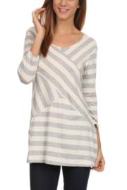 Chris & Carol Stripe Jersey Top - Product Mini Image
