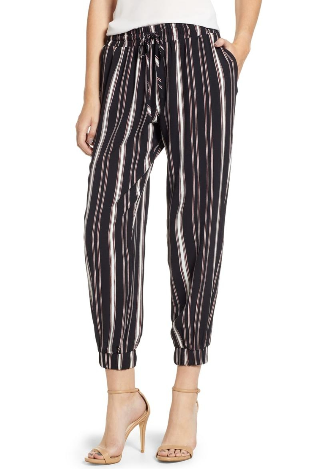 Bishop + Young Stripe Jogger Pants - Front Cropped Image