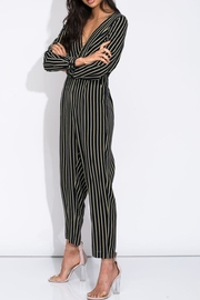blue blush Stripe Jumper - Front full body