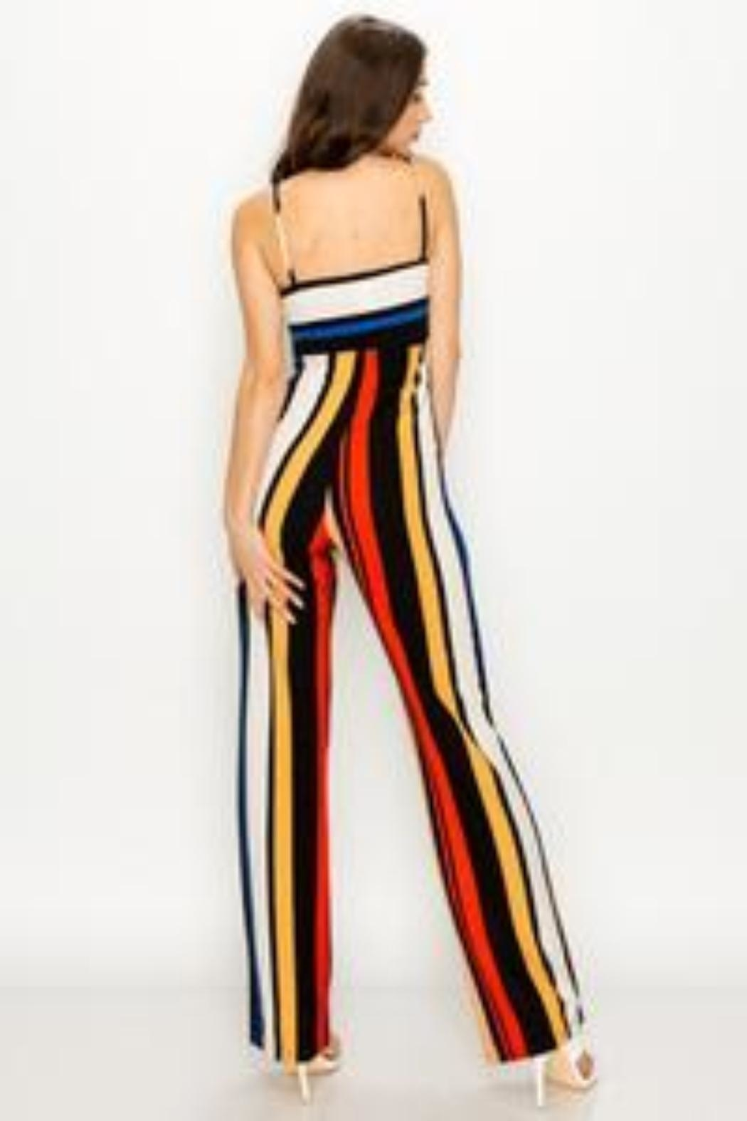 Unknown Factory Stripe Jumpsuit - Front Full Image