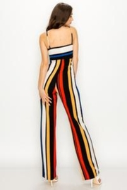Unknown Factory Stripe Jumpsuit - Front full body