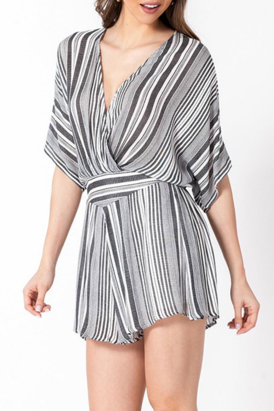 ALB Anchorage Stripe Kimono Romper - Side Cropped Image