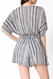 ALB Anchorage Stripe Kimono Romper - Front full body