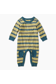 Tea Collection Stripe Knee Patch Romper - Product Mini Image