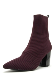 Qupid Stripe Knit Bootie - Product Mini Image