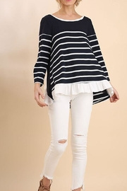Umgee USA Stripe Knit Top - Front cropped