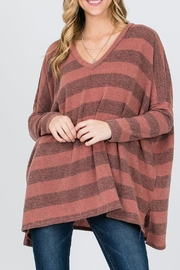 veveret Stripe Knit Top - Product Mini Image