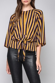 Do & Be Stripe Knot Blouse - Product Mini Image