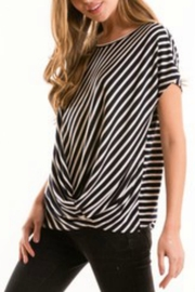 Love in  Stripe Knotted Blouse - Product Mini Image