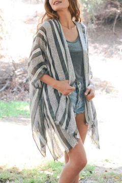 Leto Stripe Lightweight Kimono - Alternate List Image