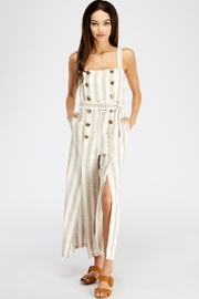 Ina Stripe Linen Jumpsuit - Product Mini Image